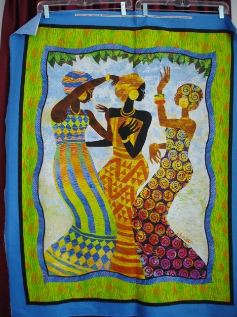 Keith Mallett Fabrics All Over | Keith Mallett Celebration Large Intended For African Fabric Wall Art (View 7 of 15)