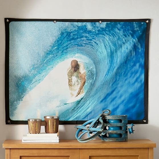 Kelly Slater Eco Canvas Wall Mural, Shortboard | Pbteen Inside Murals Canvas Wall Art (View 3 of 15)