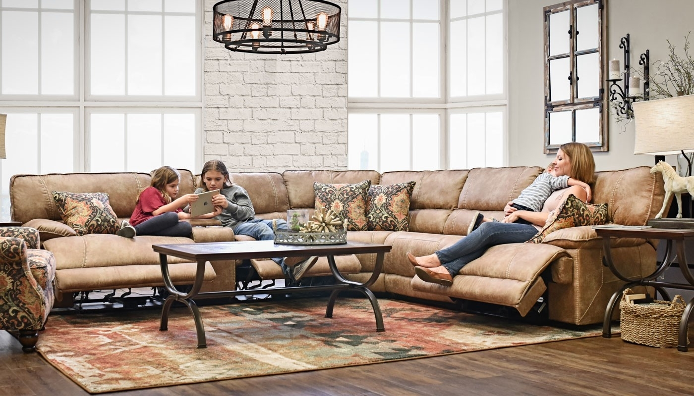 Kennedy Brown Sectional – Home Zone Furniture | Living Room Pertaining To Home Zone Sectional Sofas (View 3 of 10)