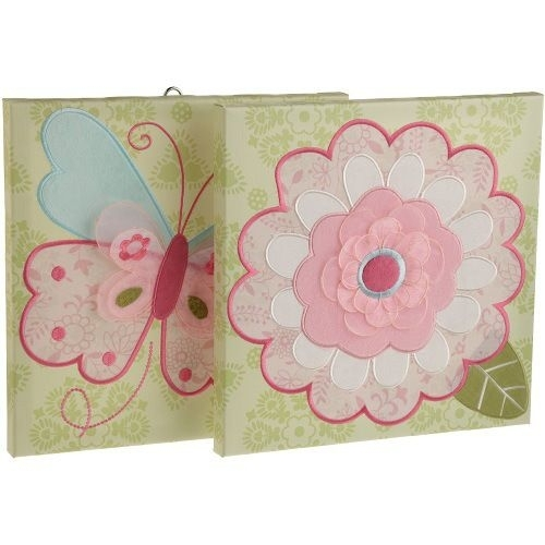 Kids Line Bella Canvas Wall Art 2 Piece, Pink | For The Home Regarding Kidsline Canvas Wall Art (Image 7 of 15)