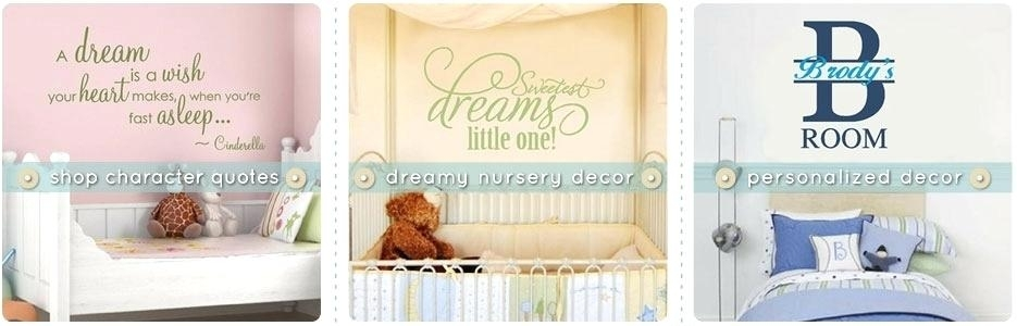 Kids Wall Art Decor Baby Nursery Decor Awesome Quotes Baby Wall For Nursery Decor Fabric Wall Art (Image 9 of 15)