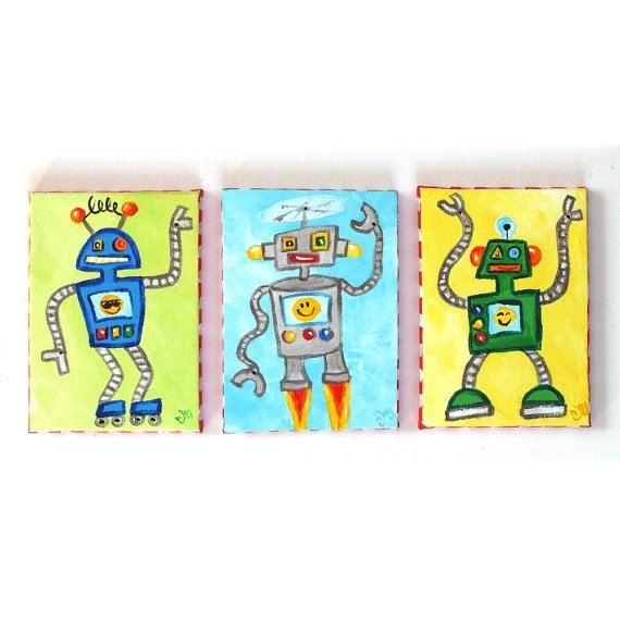 Featured Photo of Robot Canvas Wall Art
