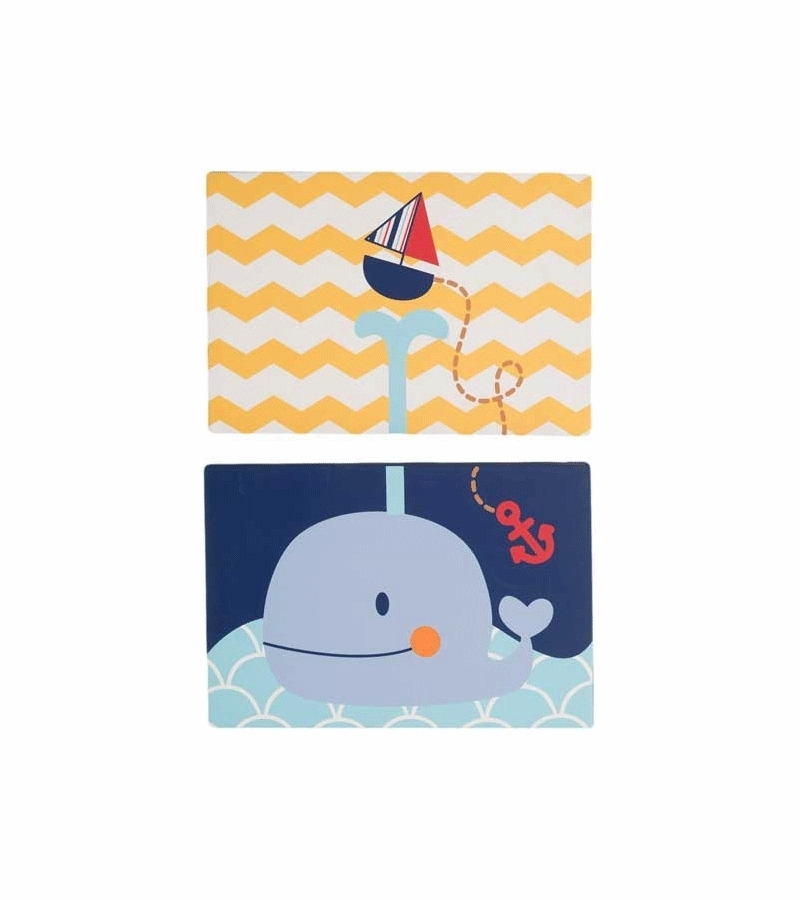 Kidsline Sail Away Canvas Wall Art – Set Of 2 Regarding Kidsline Canvas Wall Art (View 1 of 15)