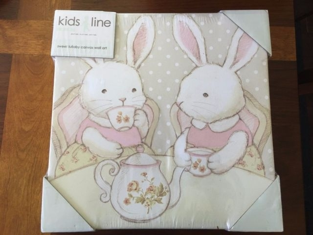 Kidsline Sweet Lullaby Canvas Wall Art Set Of 2 Girl Nursery Within Kidsline Canvas Wall Art (Image 12 of 15)