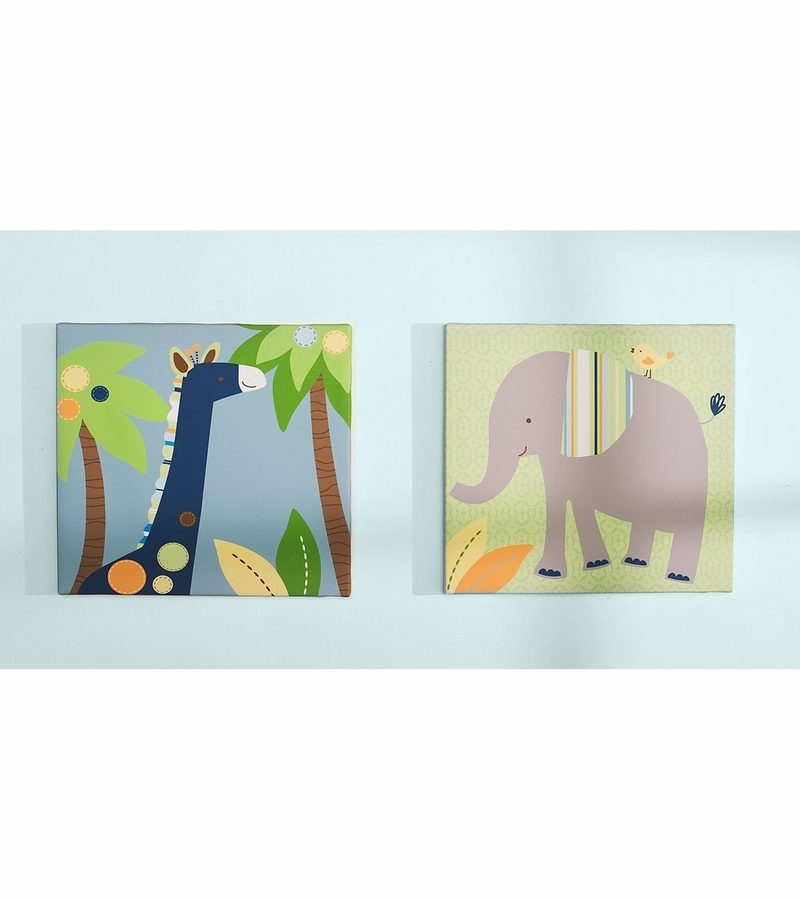 Kidsline Tribal Tails Canvas Wall Art – Set Of 2 Intended For Kidsline Canvas Wall Art (View 3 of 15)