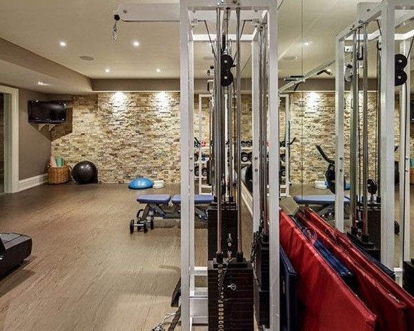 Killer Accent Wall In This Home Gym | My Dream Home | Pinterest For Garage Wall Accents (View 7 of 15)