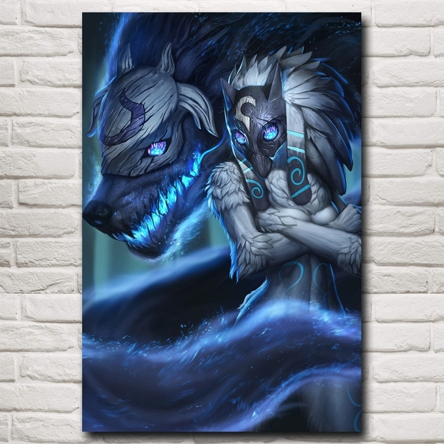 Kindred League Of Legends Lol Game Art Silk Poster Pictures Home Regarding Kindred Abstract Metal Wall Art (View 14 of 15)