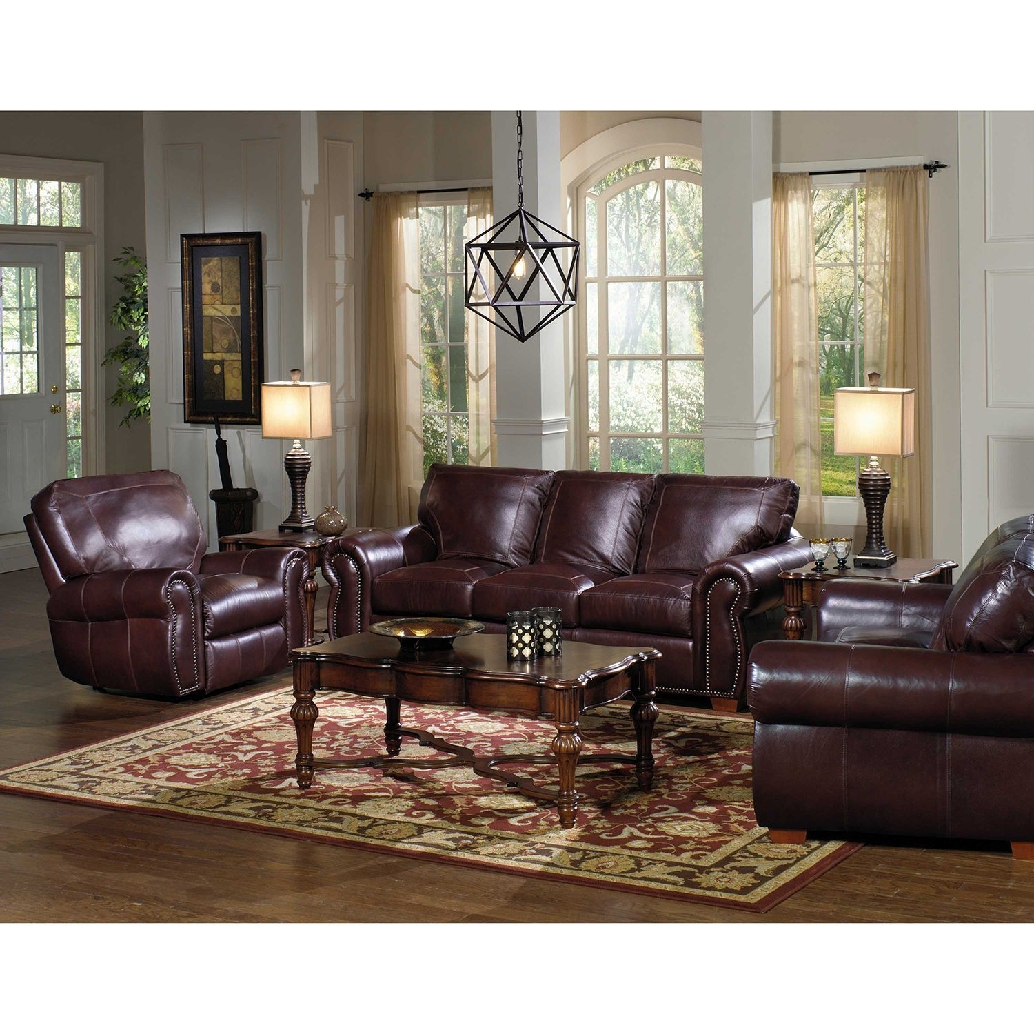 Kingston Top Grain Leather Sofa, Loveseat And Recliner Living Room With Regard To Kingston Sectional Sofas (View 7 of 10)