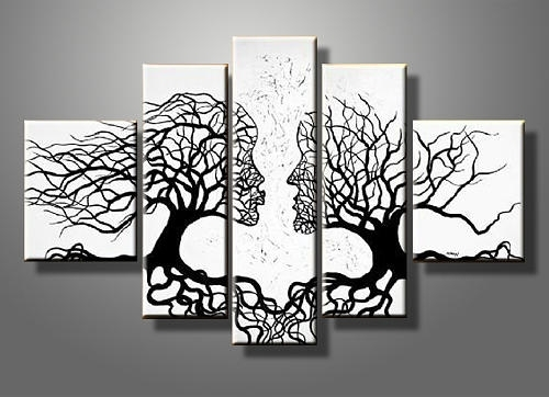 Kiss Tree Canvas Gallery Wrap Wall Art Set Paintingsummer Chen In Canvas Wall Art Of Trees (Image 4 of 15)