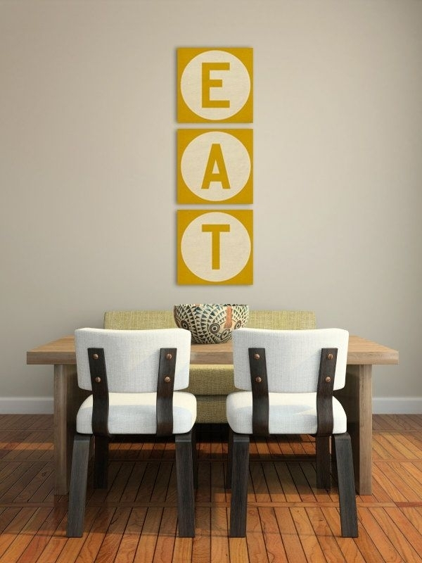 Kitchen Decorating Ideas Wall Art Gorgeous Decor Diy Dining Canvas Pertaining To Eat Canvas Wall Art (Image 14 of 15)