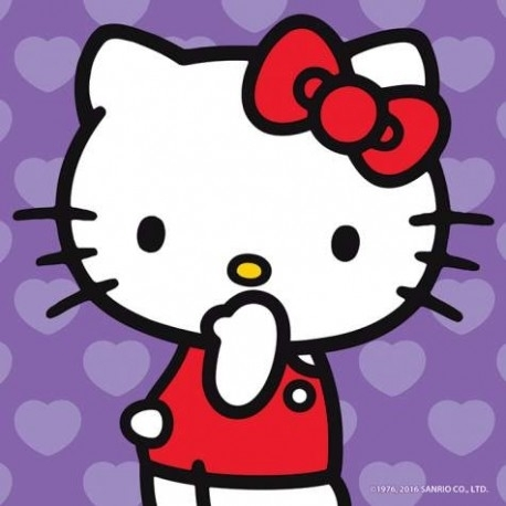 Kitty Surprised Purple Canvas Wall Art Pertaining To Hello Kitty Canvas Wall Art (View 12 of 15)