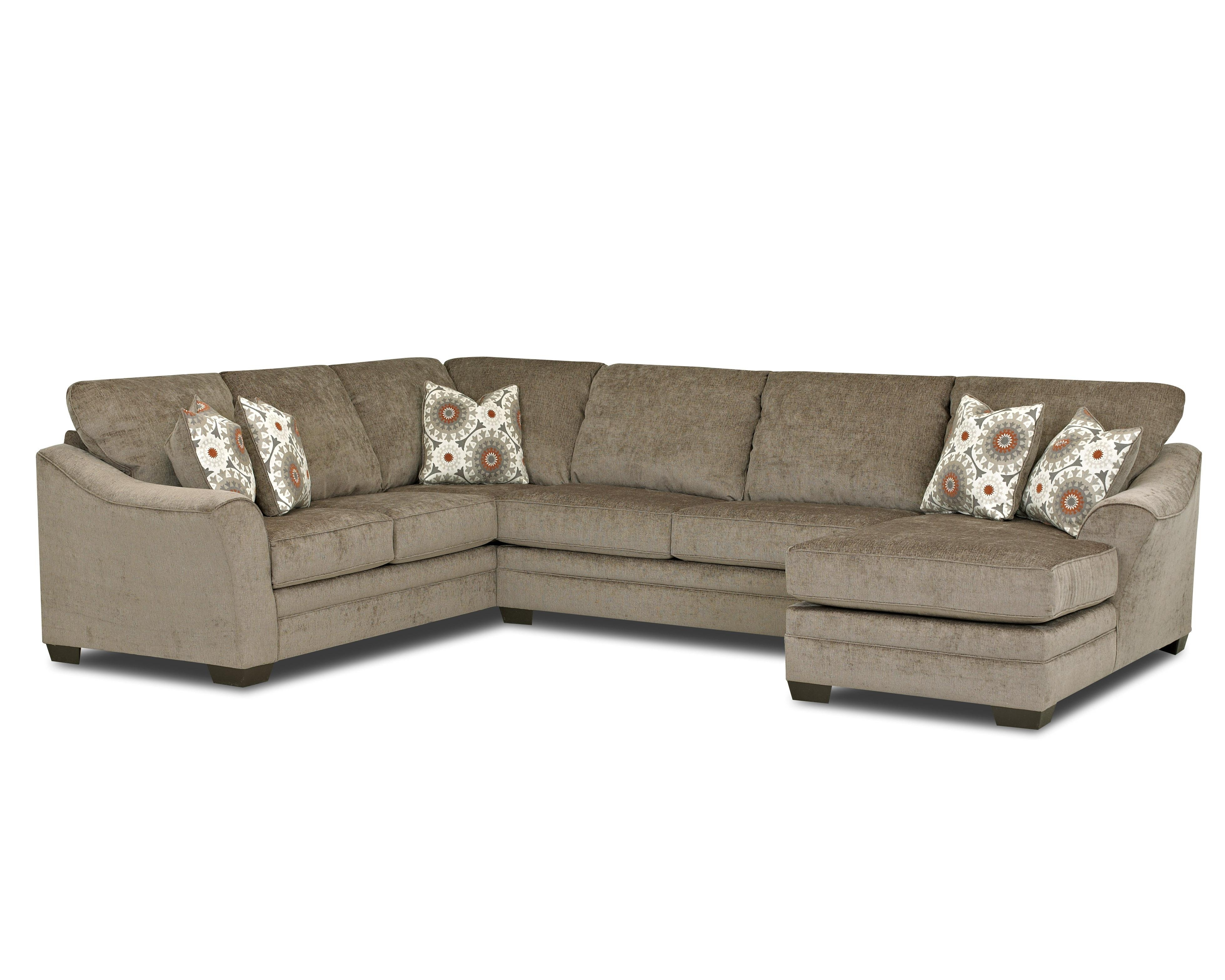 Klaussner Heston Contemporary Sectional Sofa With Flared, Sloped With Regard To Johnny Janosik Sectional Sofas (Image 7 of 10)