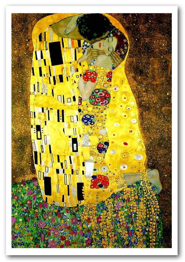 Klimt Kiss Art Classic Framed Art Giclee Art Print Intended For Framed Classic Art Prints (Image 11 of 15)