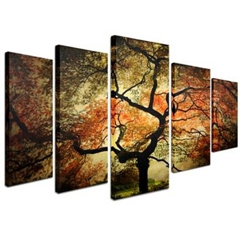 Kohl's Japanese Tree 5 Piece Canvas Wall Art Set   Japanese Tree With Regard To Kohls 5 Piece Canvas Wall Art (Image 12 of 15)