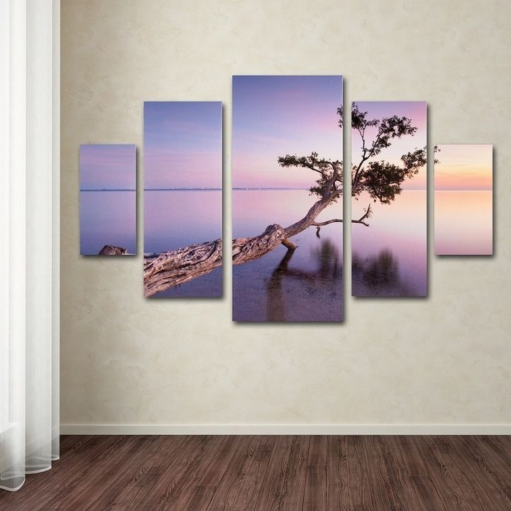 Kohl's Water Tree 5 Piece Canvas Wall Art Set | Products Intended For Kohls 5 Piece Canvas Wall Art (View 13 of 15)