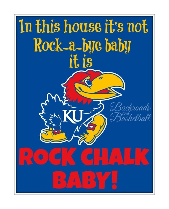 Ku Jayhawk Baby Print In This House Its Not Rock A Bye Baby Its With Regard To Ku Canvas Wall Art (View 4 of 15)