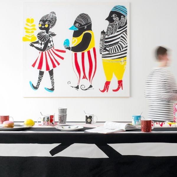 Kulkue: Marimekko, Always Inspirational | Off The Wall | Pinterest Regarding Marimekko 'karkuteilla' Fabric Wall Art (View 4 of 15)