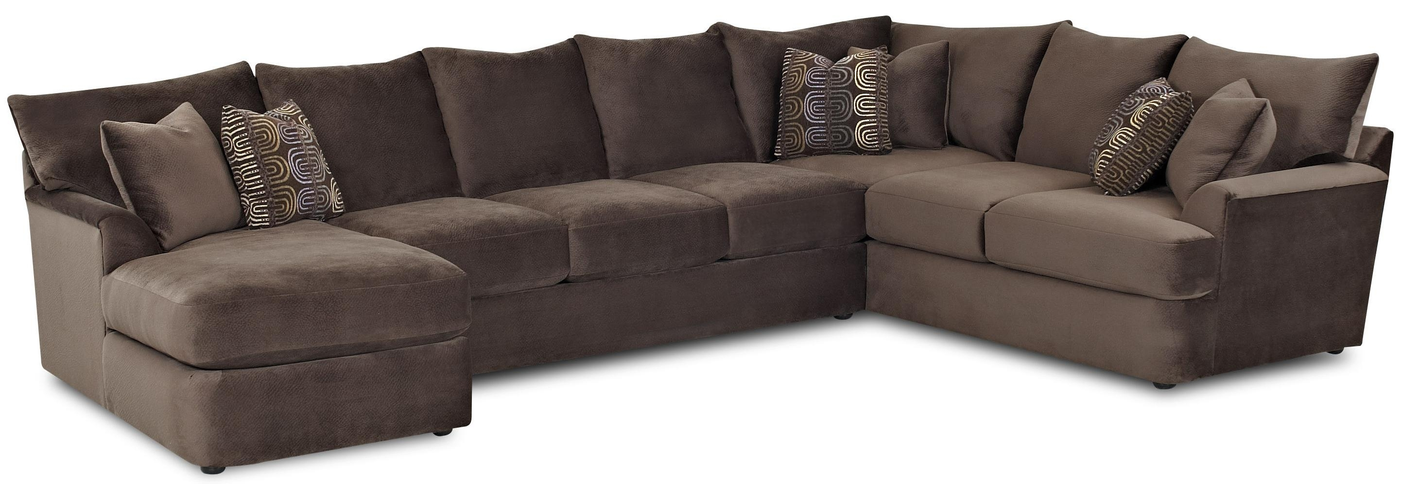L Shaped Sectional Sofa With Left Chaiseklaussner Wolf And Throughout L Shaped Sectional Sofas (View 3 of 10)