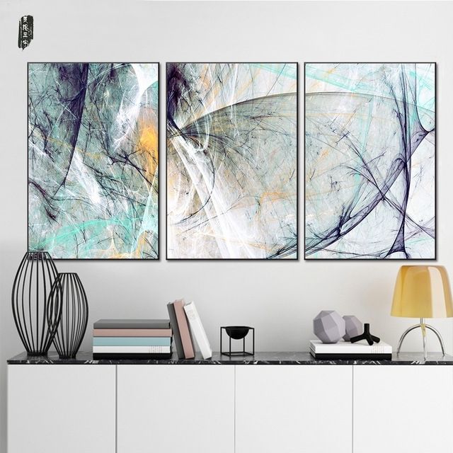 Landscape Abstract Canvas Paintings Modern Wall Art Poster And Intended For Abstract Wall Art Posters (View 11 of 15)