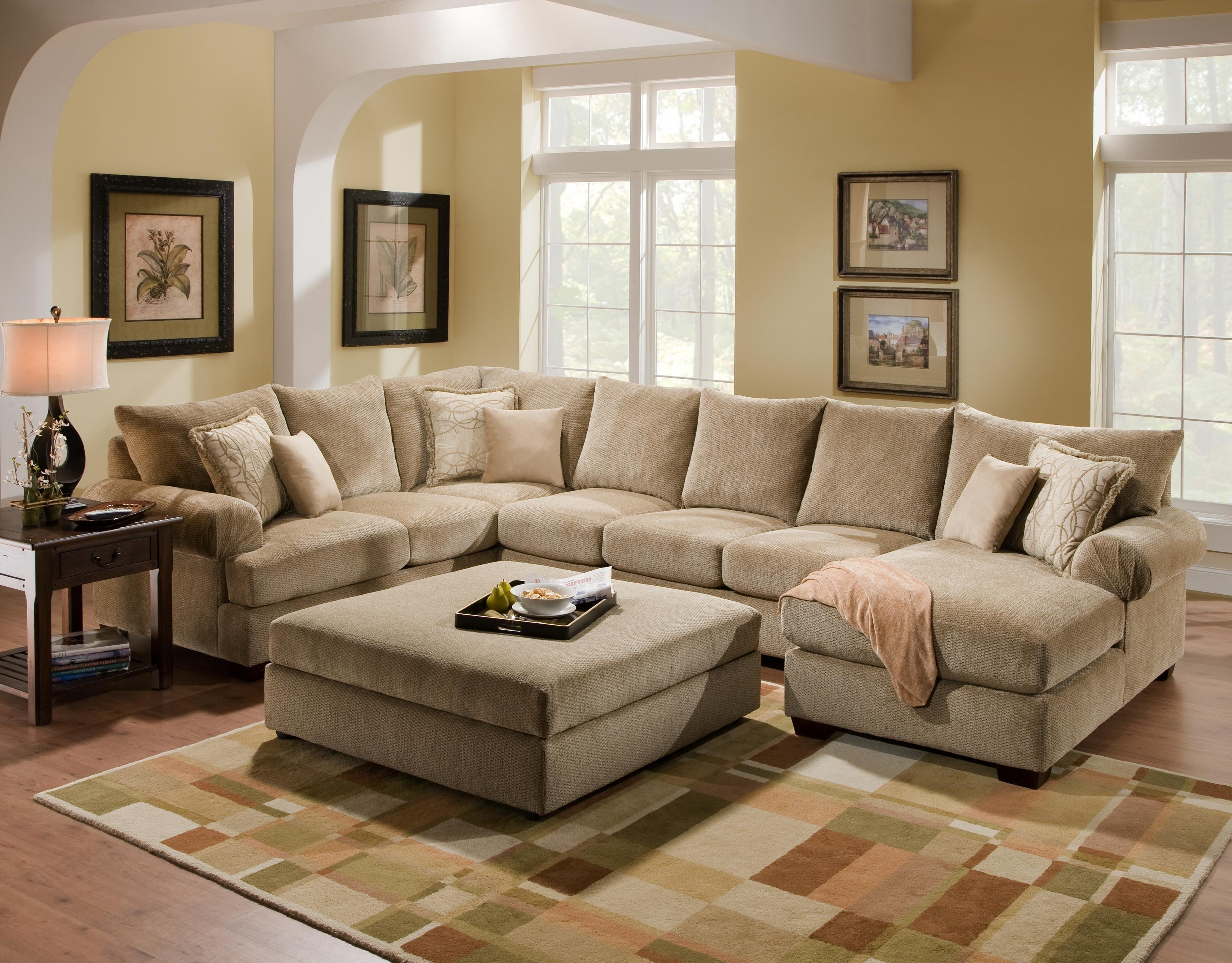 Lane Furniture: Rivers Collection Featuring Power Reclining In Big U Shaped Couches (View 4 of 10)