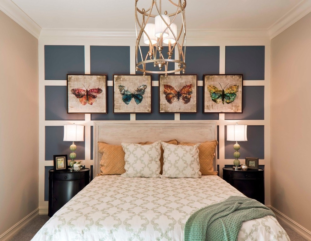 Lantern Chandelier Convention Other Metro Transitional Bedroom With Wall Accents For Beige Room (Image 11 of 15)