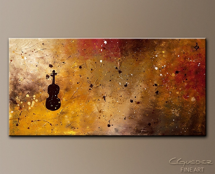 Large Abstract Art For Sale Allegro Con Brio – Music Paintings For Within Abstract Music Wall Art (Image 9 of 15)
