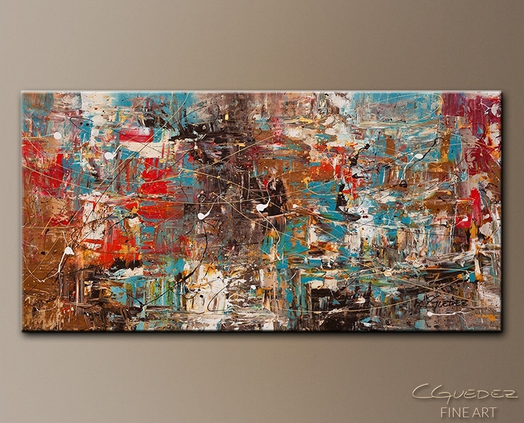Large Abstract Art For Sale Online Can't Stop – Modern Abstract Regarding Modern Abstract Wall Art Painting (View 8 of 15)