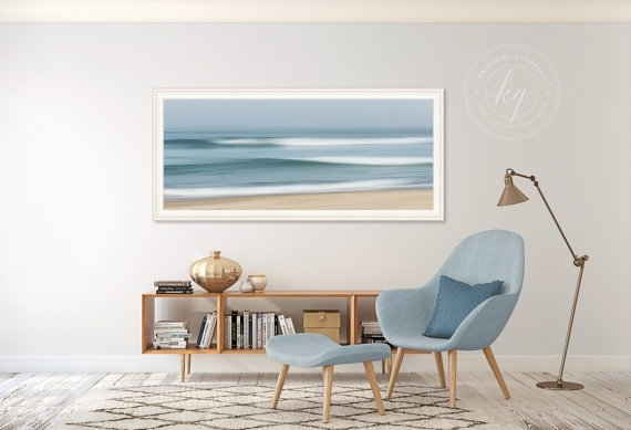 Large Abstract Beach Art Ocean Panorama Photo Print Nautical For Abstract Nautical Wall Art (View 14 of 15)