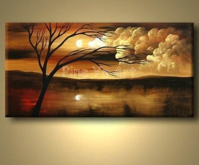 Large Abstract Modern Canvas Wall Art Decorative Handmade Nature Regarding Abstract Nature Canvas Wall Art (View 3 of 15)