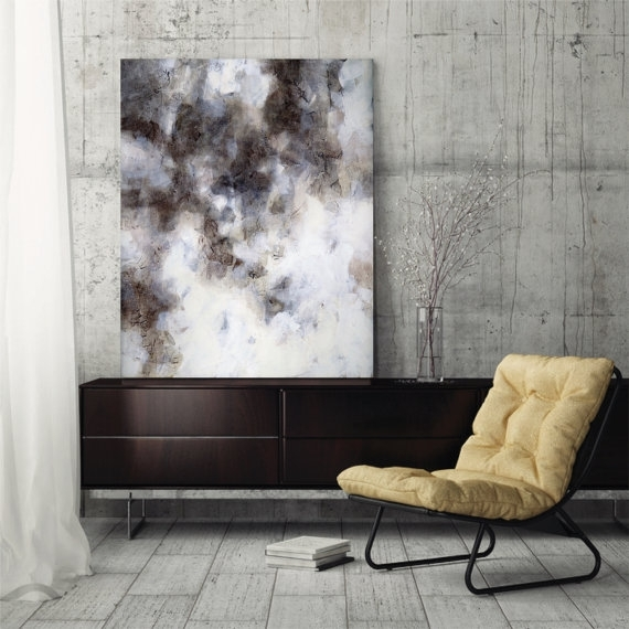 Large Abstract Painting Abstract Art Canvas Art Fine Art Print Throughout Neutral Abstract Wall Art (View 7 of 15)