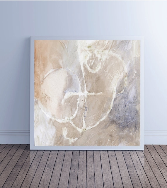 Large Abstract Painting, Abstract Art, Canvas Art, Giclee Fine Art With Neutral Abstract Wall Art (View 9 of 15)