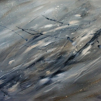 Large Abstract Painting, Modern Art, Raw From Artheroux | Art Intended For Gray Abstract Wall Art (Image 8 of 17)
