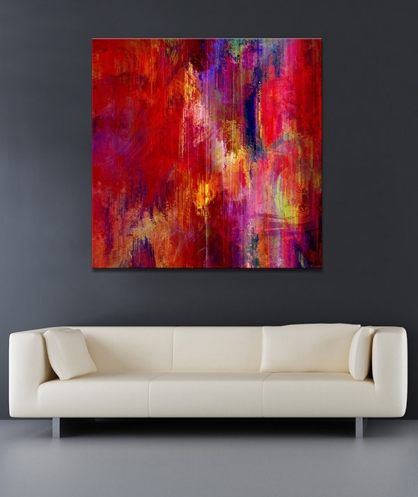 Large Abstract Paintings Transition Art In Large Abstract Canvas Wall Art (Image 10 of 15)