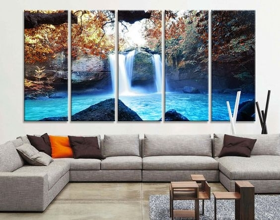Large Art Prints, Large Art And Waterfalls On Pinterest In Large Throughout Large Canvas Wall Art (Image 7 of 15)