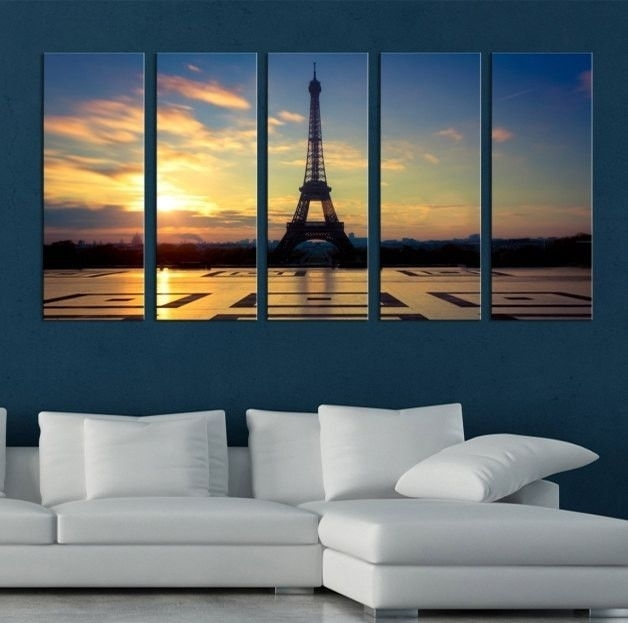 Large Canvas Art – Eiffel Tower Paris Canvas Prints, Prints For With Regard To Eiffel Tower Canvas Wall Art (View 4 of 15)