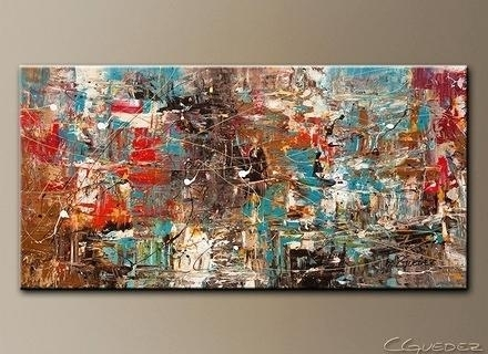 Large Canvas Art Oversized Abstract Art Paintings Extra Large Wall In Modern Abstract Huge Wall Art (Image 4 of 15)