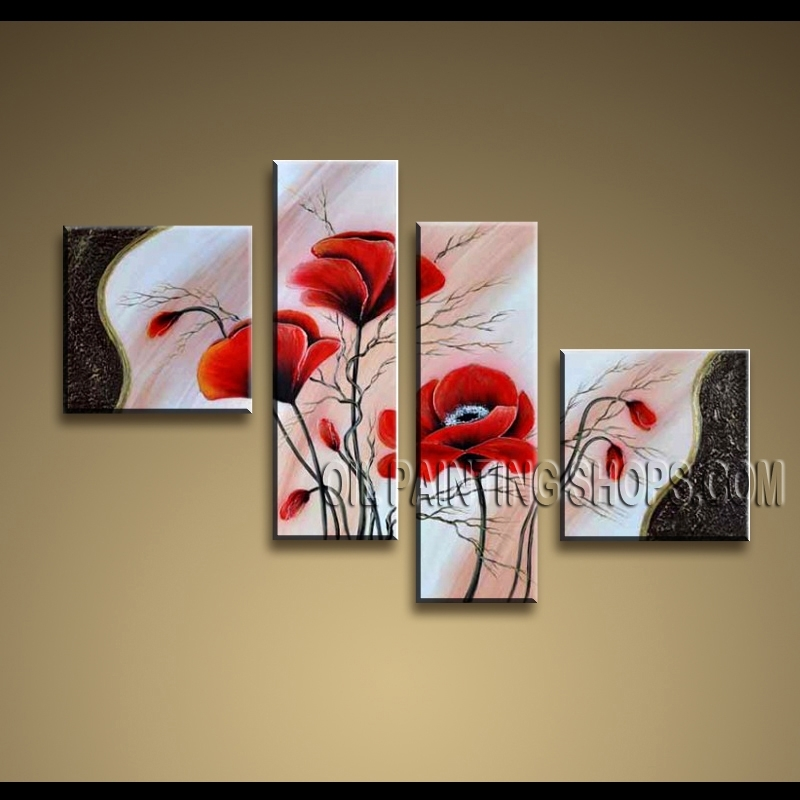 Large Contemporary Wall Art Oil Painting On Canvas Panels Gallery For Oil Paintings Canvas Wall Art (View 12 of 15)