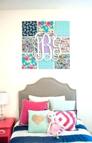 Large Fabric Wall Art How To Make Large Fabric Panel Wall Art Throughout Diy Large Fabric Wall Art (Image 11 of 15)