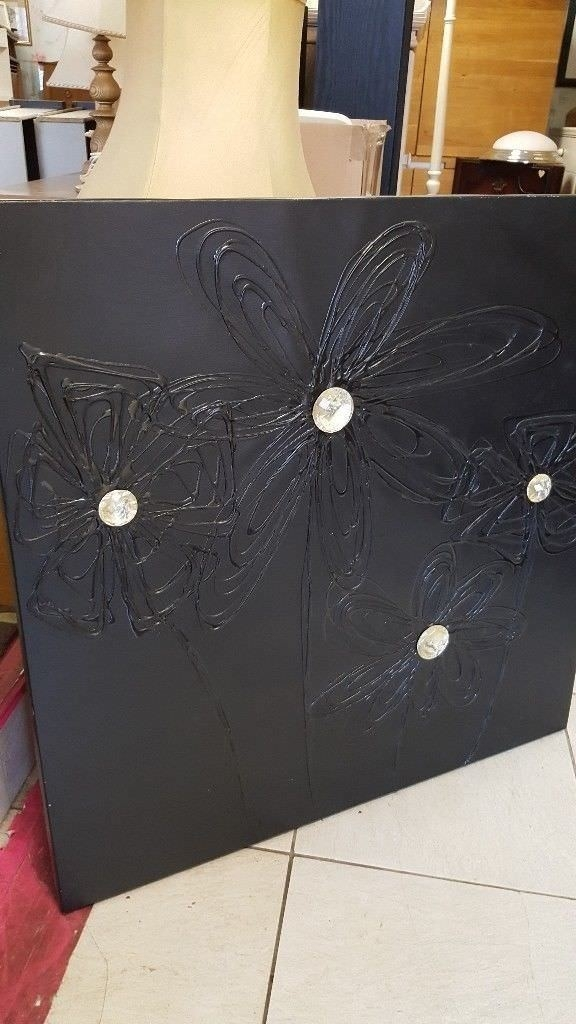 Large Ikea Black Canvas Wall Art | In Bearsden, Glasgow | Gumtree With Regard To Glasgow Canvas Wall Art (View 15 of 15)