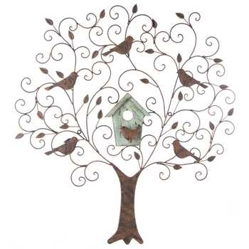 Large Metal & Wood Tree Wall Decor With Birds | Hobby Lobby | 485771 For Hobby Lobby Wall Accents (Image 11 of 15)