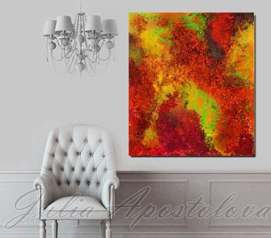Large Print, Purple, Abstract Painting, Blue Art, Lilac Painting Inside Abstract Orange Wall Art (View 15 of 15)