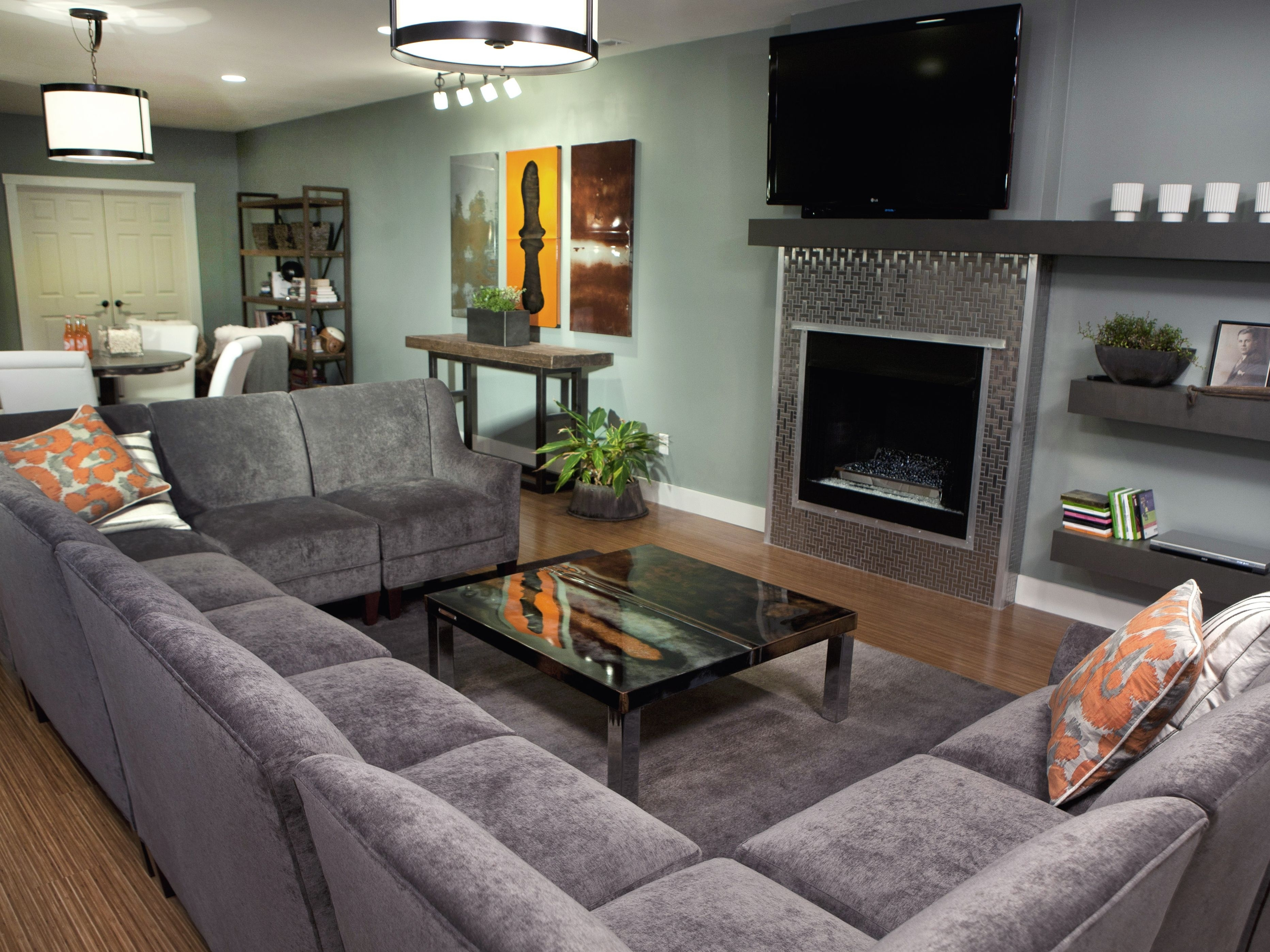 Large Sectional Sofas With Recliners | Leather Sectional | Large Pertaining To Blue U Shaped Sectionals (Image 7 of 10)