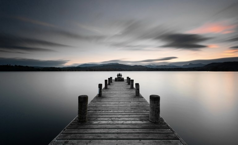 Large Stillness Lake Jetty Printed Canvas Wall Art Eluxury Home With Jetty Canvas Wall Art (Image 13 of 15)