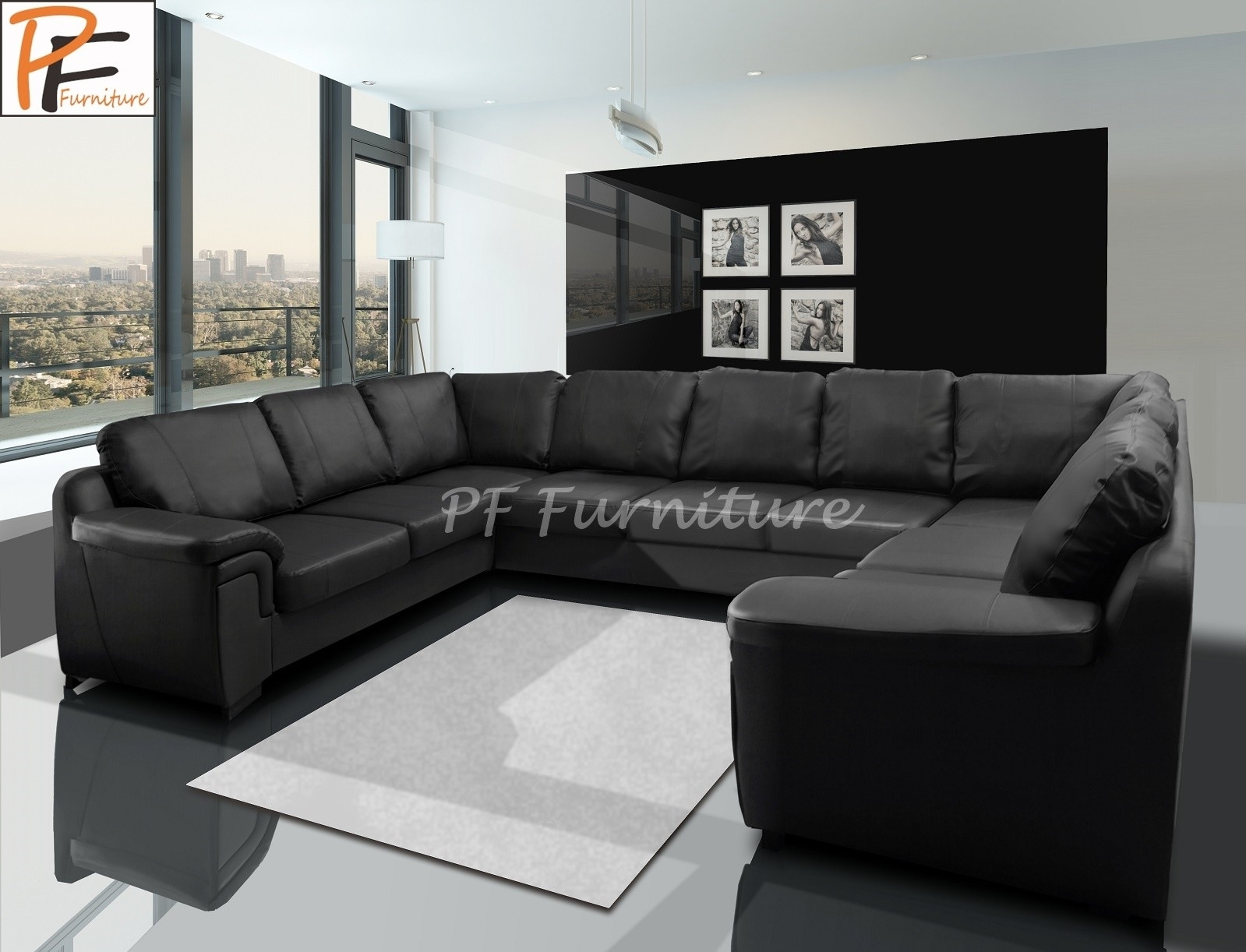 Large U Shaped Sofa – Home And Textiles Pertaining To Large U Shaped Sectionals (Image 6 of 10)