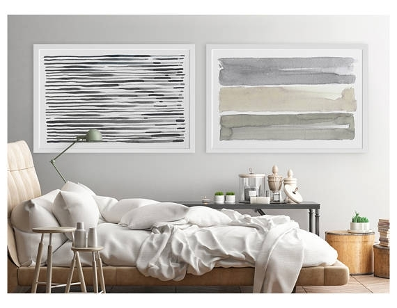 Large Wall Art Contemporary Wall Art Horizontal Wall Art Inside Horizontal Abstract Wall Art (View 6 of 15)
