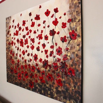 Large Wall Art, Huge Canvas Art, Red From Artbychristinadudycz On Intended For Large Red Canvas Wall Art (View 3 of 15)