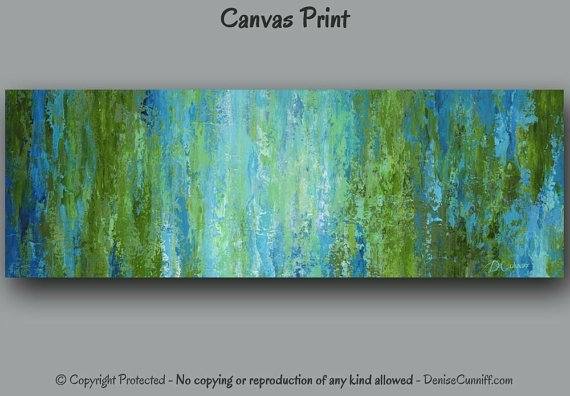 Large Wall Art Olive Green Blue Home Decor Abstract Painting Intended For Olive Green Abstract Wall Art (Image 9 of 15)