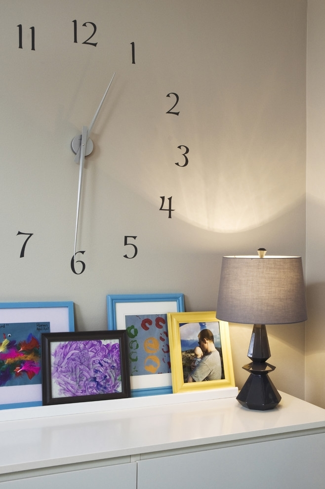 Large Wall Clocks Bedroom Eclectic With Wall Art Neutral Colors Regarding Clock Wall Accents (Image 12 of 15)