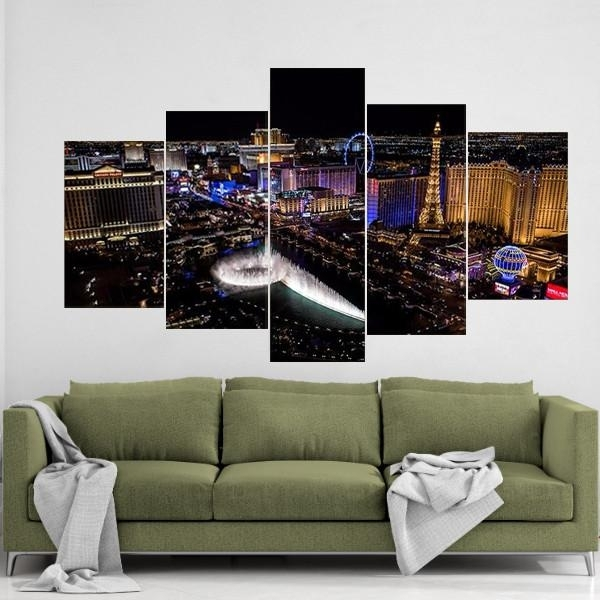 Las Vegas Canvas Wall Art Intended For Las Vegas Canvas Wall Art (View 9 of 15)