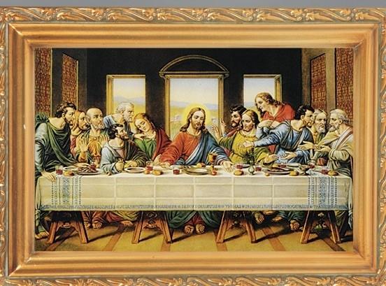 Last Supper Antique Gold Framed Print Brilliant Art With 8 For Antique Framed Art Prints (Image 11 of 15)